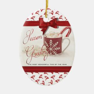 Weihnachten Holidys, beste Zeit des Jahres Keramik Ornament