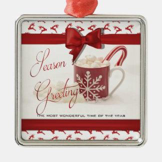 Weihnachten Holidys, beste Zeit des Jahres Silbernes Ornament