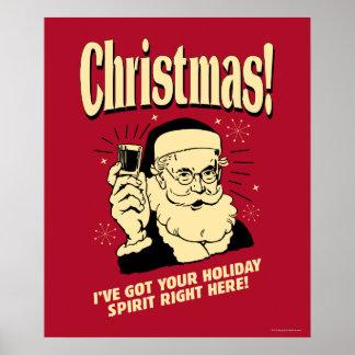 Weihnachten: Ich habe Ihren Feiertags-Geist nach Poster