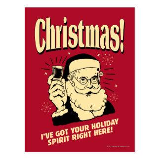 Weihnachten: Ich habe Ihren Feiertags-Geist nach Postkarte