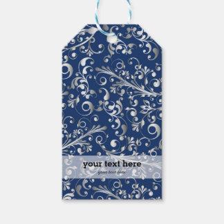 Weihnachten im Blau u. im Silber Geschenkanhänger