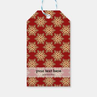 Weihnachten im Rot u. im Gold Geschenkanhänger