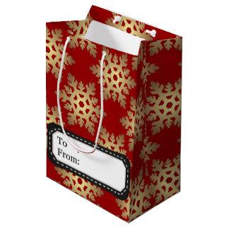 Weihnachten im Rot u. im Gold Mittlere Geschenktüte