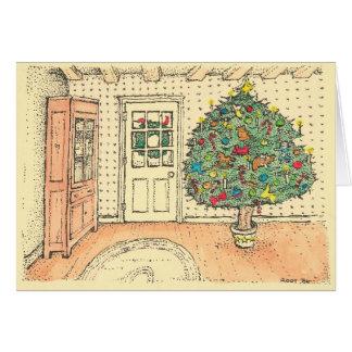 Weihnachten in einem Bauernhaus - Farbe Karte