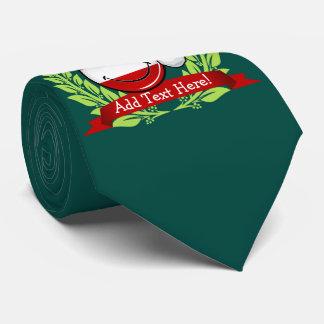 Weihnachten in lächelnder Flagge Albaniens Krawatte
