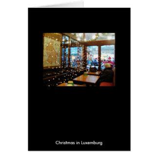 Weihnachten in Luxemburg Karte