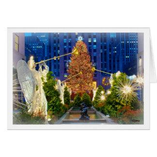 Weihnachten in New York Grußkarte