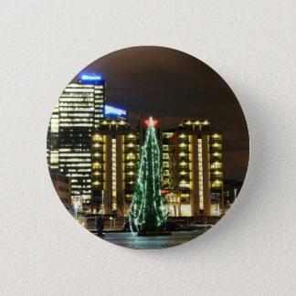 Weihnachten in Oslo, Norwegen Runder Button 5,7 Cm