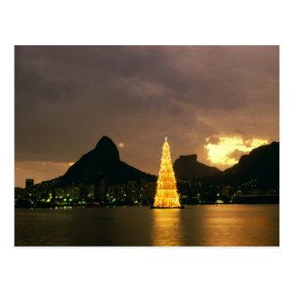 Weihnachten in Rio de Janeiro Brasilien Postkarte