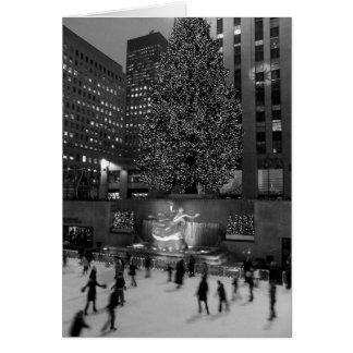 Weihnachten in Rockefeller-Mitte Karte