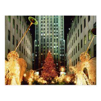 Weihnachten in Rockefeller-Mitte Postkarte
