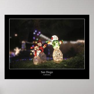 Weihnachten in San Diego Plakatdrucke