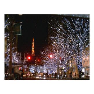 Weihnachten in Tokyo, Japan Personalisierte Flyer
