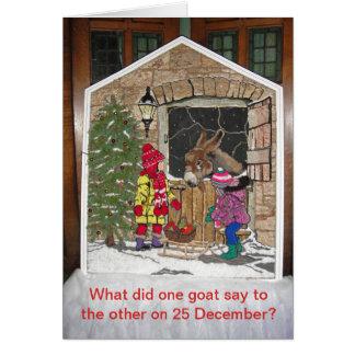 Weihnachten ist für die Kinder Karte