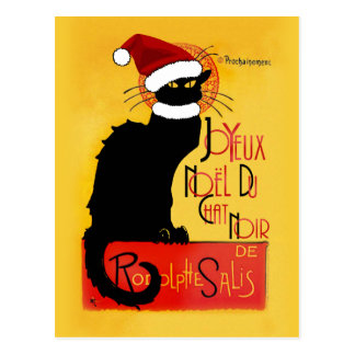 Weihnachten Joyeux Noël Du Chat Noir Postkarte