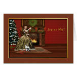 Weihnachten, Joyeux Noël, Franzosen, altmodisch Grußkarte