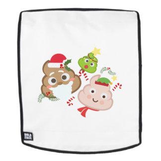 Weihnachten kacken Emoji lustige Kindermann-Frauen Rucksack