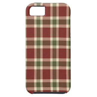 Weihnachten-kariert iPhone 5 Schutzhülle