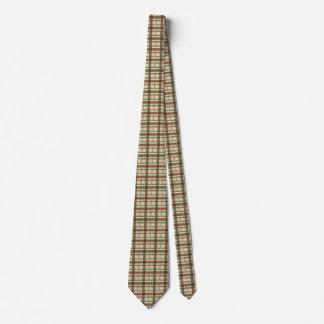 Weihnachten kariert mit Stechpalmenmuster-Krawatte Individuelle Krawatten