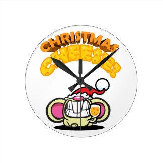 Weihnachten-KÄSE! Runde Wanduhr