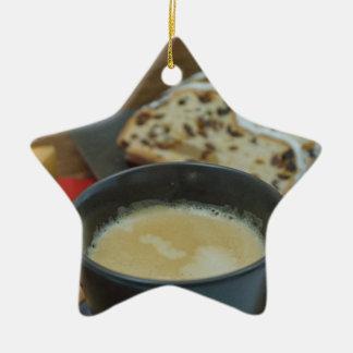 Weihnachten Keramik Stern-Ornament