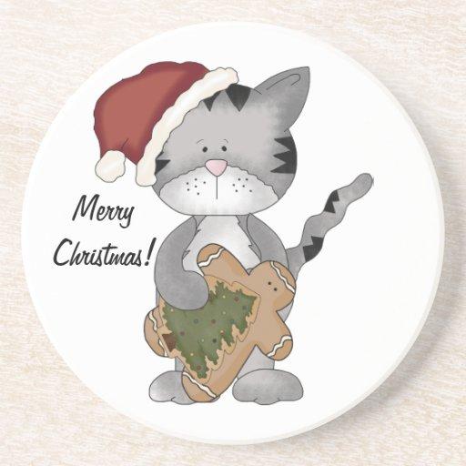 Weihnachten Kittie Kat-mit Lebkuchenmann Bierdeckel