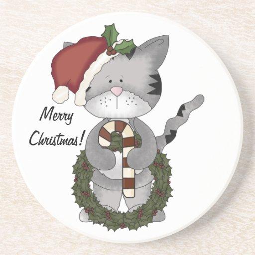 Weihnachten Kittie Kat Bierdeckel