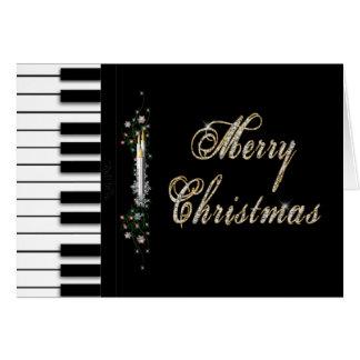 Weihnachten - Klavier - Musical Karte