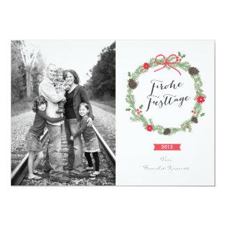 Weihnachten Kranz Foto-Karte 12,7 X 17,8 Cm Einladungskarte