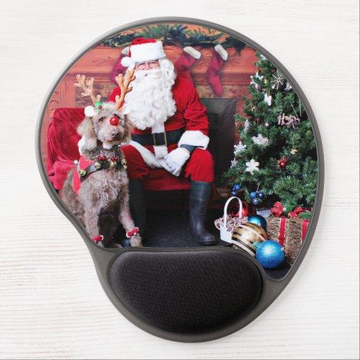 Weihnachten - LabraDoodle - Gabe Gel Mouse Matten