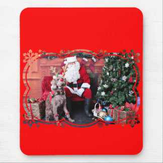 Weihnachten - LabraDoodle - Gabe Mousepad