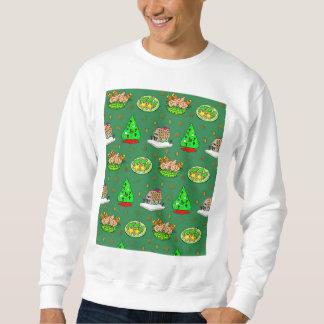 Weihnachten - Lebkuchen-Häuser u. mattierte Sweatshirt