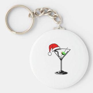 Weihnachten Martini Standard Runder Schlüsselanhänger