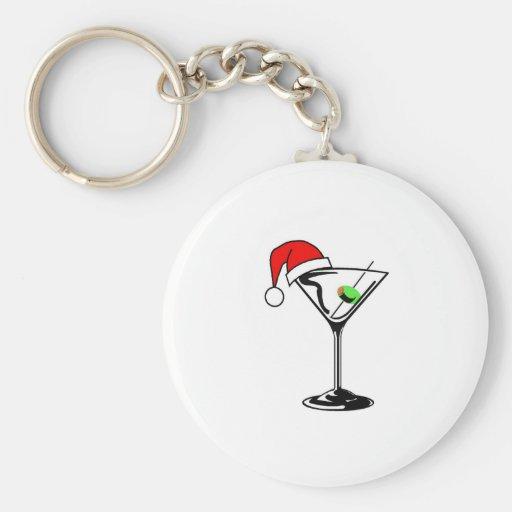 Weihnachten Martini Schlüsselanhänger