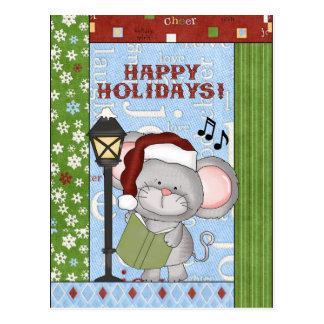 Weihnachten, Maus, Gruß, Postkarte