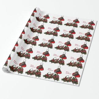 Weihnachten: Mäuse auf Toadstool, Stechpalme: Geschenkpapier