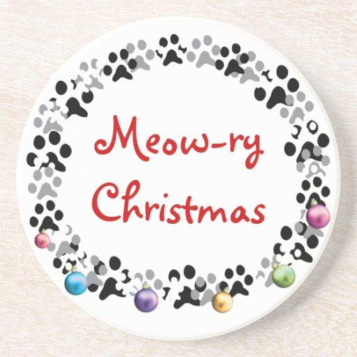 Weihnachten Meow-Relais Untersetzer