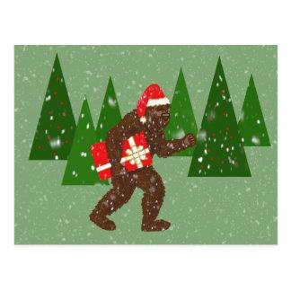 """""""Weihnachten mit Bigfoot"""" Postkarte"""