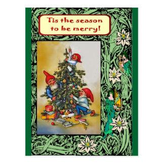 Weihnachten mit den Elfen Postkarten