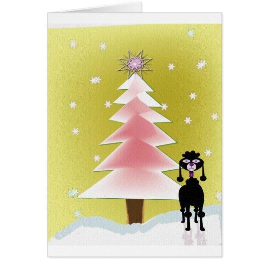 weihnachten mit einem pudel karte zazzle. Black Bedroom Furniture Sets. Home Design Ideas