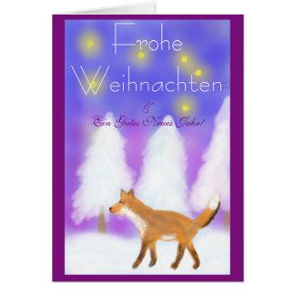 Weihnachten mit Fuchs und Sternen Karte