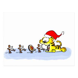 Weihnachten mit Kuscheltiger Postkarte