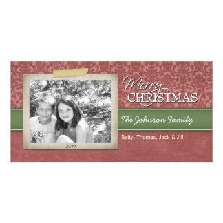 Weihnachten - mit Vintager Fotogrenze - Fotokartenvorlage