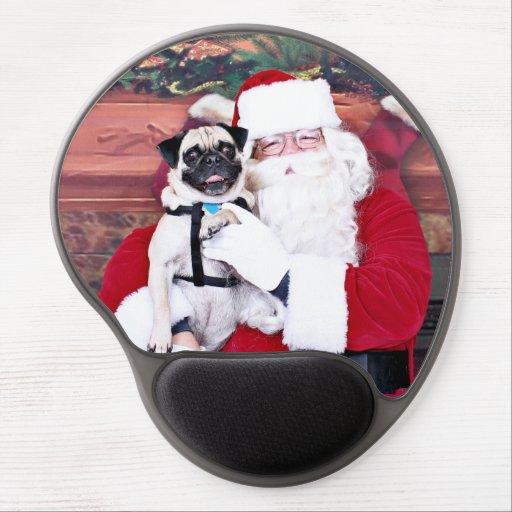 Weihnachten - Mops - Harvey Gel Mouse Matte