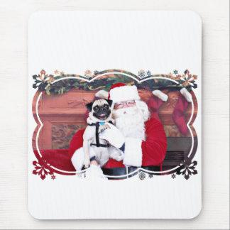 Weihnachten - Mops - Harvey Mauspad