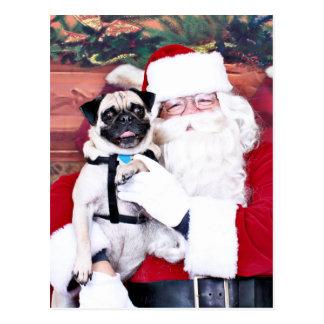Weihnachten - Mops - Harvey Postkarte