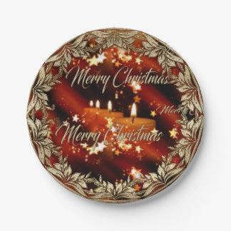 Weihnachten/neue Jahre Party-Teller- Pappteller