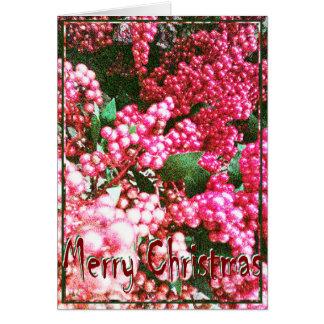 Weihnachten, neues Jahr, Feiertag - Karte