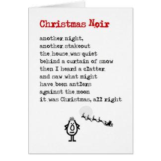 Weihnachten Noir - ein lustiges Weihnachtsgedicht Grußkarte