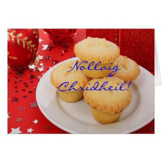 Weihnachten Nollaig Chridheil Grußkarte